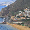 beaches and village in Tenerife