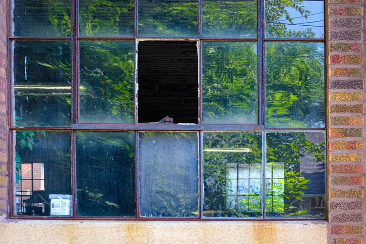 Photo of a broken window